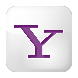 256x256px size png icon of social yahoo box white