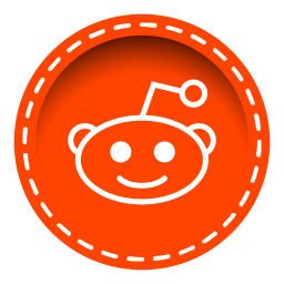 256x256px size png icon of reddit
