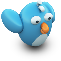 256x256px size png icon of TwittingFlying