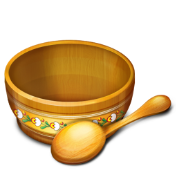 256x256px size png icon of Bowl Empty