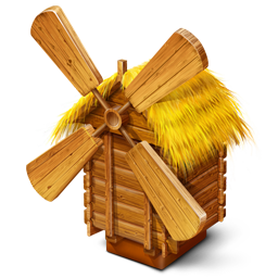 256x256px size png icon of Windmill