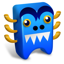 256x256px size png icon of Blue creature