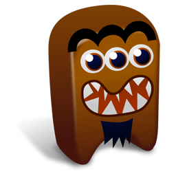 256x256px size png icon of Brown creature