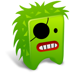256x256px size png icon of Green creature
