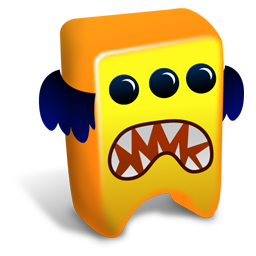 256x256px size png icon of Orange creature