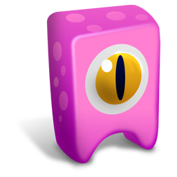 256x256px size png icon of Pink creature