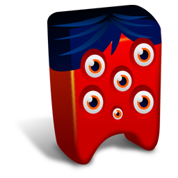 256x256px size png icon of Red creature