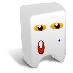 256x256px size png icon of White creature