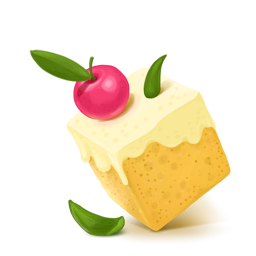 256x256px size png icon of Box 03 Cake Cherry