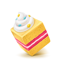 256x256px size png icon of Box 05 Cake Sweet