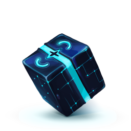 256x256px size png icon of Box 13 Blue