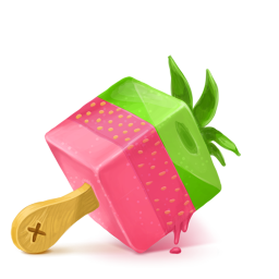 256x256px size png icon of Box 19 Ice Cream Strawberry