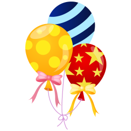 256x256px size png icon of balloons