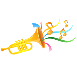 256x256px size png icon of trumpet
