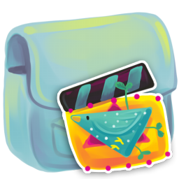 256x256px size png icon of Folder Movie