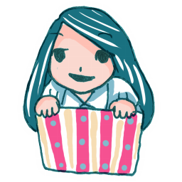 256x256px size png icon of Girl in a Box