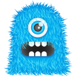 256x256px size png icon of Blue Monster