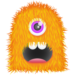 256x256px size png icon of Orange Monster