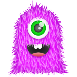 256x256px size png icon of Purple Monster