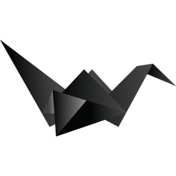 256x256px size png icon of bird black