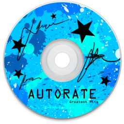 256x256px size png icon of Autorate Blue