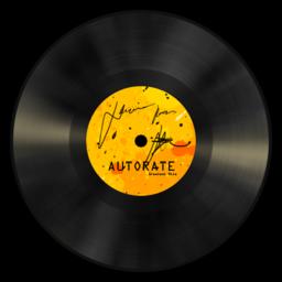 256x256px size png icon of Vinyl Orange