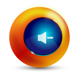 256x256px size png icon of sound decrease