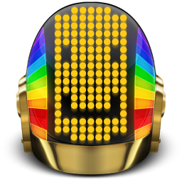 256x256px size png icon of Daft Punk Guyman Smile