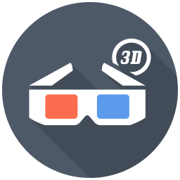 256x256px size png icon of 3D Glasses