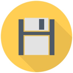 256x256px size png icon of Black Floppy