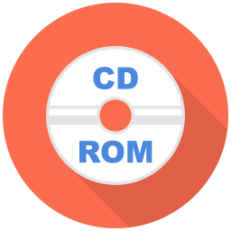 256x256px size png icon of Cd Rom