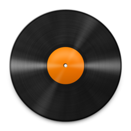 256x256px size png icon of Vinyl Orange 512