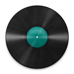 256x256px size png icon of Vinyl Turquoise 512
