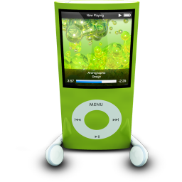 256x256px size png icon of iPodPhonesGreen