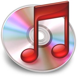 256x256px size png icon of iTunes Rood 3