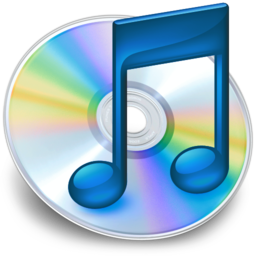 256x256px size png icon of iTunes blauw 2