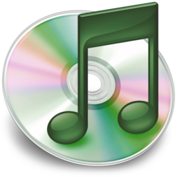 256x256px size png icon of iTunes groen 2