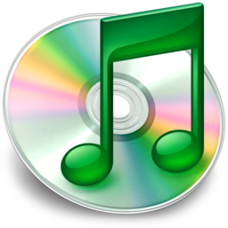 256x256px size png icon of iTunes groen