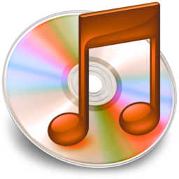 256x256px size png icon of iTunes oranje 2