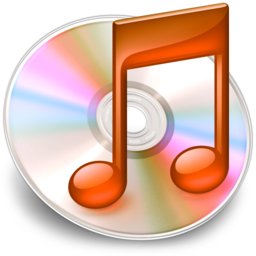 256x256px size png icon of iTunes oranje