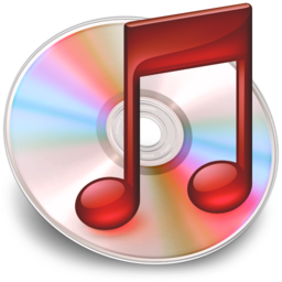 256x256px size png icon of iTunes rood