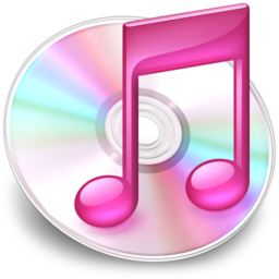 256x256px size png icon of iTunes roze