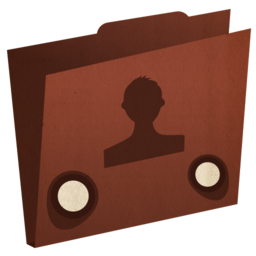 256x256px size png icon of folder user