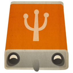 256x256px size png icon of usb