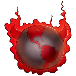 256x256px size png icon of Bad Guy Earth