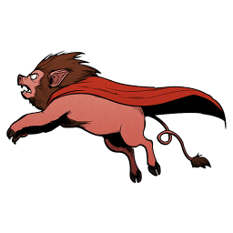 256x256px size png icon of Super Lion Pig