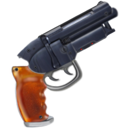 256x256px size png icon of deckard blaster