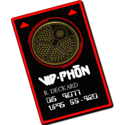 256x256px size png icon of vid phon card
