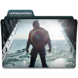 256x256px size png icon of Captain America Winter Soldier Folder 1