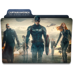256x256px size png icon of Captain America Winter Soldier Folder 4